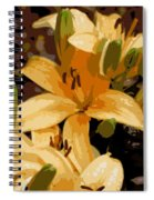 Abstract Yellow Asiatic Lily - 2 Spiral Notebook