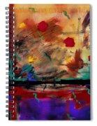 Abstract Yellow Horizontal Spiral Notebook