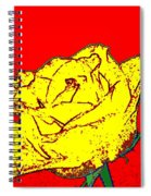 Abstract Yellow Rose Spiral Notebook