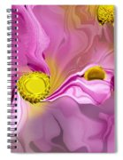 Abstracted Pink Spiral Notebook