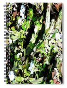 Abstraction Green And White Spiral Notebook