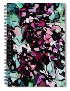 Abstraction Red And Green Spiral Notebook