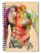 Abstractiv Body -2 Spiral Notebook
