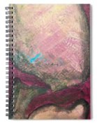 Abstracty Crows Feet Crop Spiral Notebook