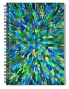 Abstrract Cubes Blue Spiral Notebook