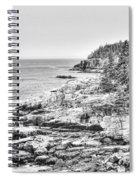 Acadia National Park In Bw Spiral Notebook