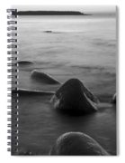 Acadia National Park Shoreline Sunrise Wakeup Black And White Spiral Notebook