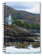 Acadia Seaside Mansion Spiral Notebook