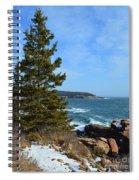 Acadian Shores In Winter Spiral Notebook