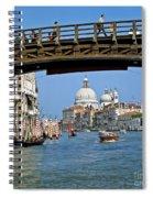 Accademia Bridge In Venice Italy Spiral Notebook