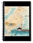 Accomplice Kodiak Crab Fishing Boat Cathy Peek Nautical Chart Map  Spiral Notebook