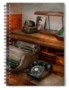 Accountant - Typewriter - The Accountants Office Spiral Notebook