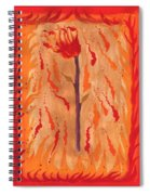 Ace Of Wands Spiral Notebook