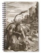 Achelous In The Shape Of A Bull Spiral Notebook