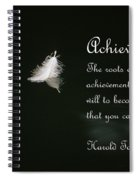 Achievement Spiral Notebook