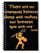 Achilles Admonition Spiral Notebook