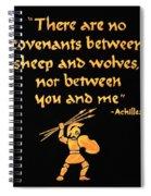 Achilles Admonition Spiral Notebook