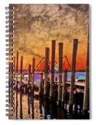 Acid Washed Spiral Notebook
