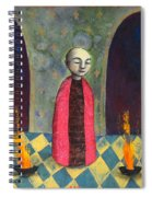 Acolyte With Fire Pots Spiral Notebook