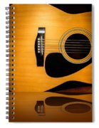 Acoustic Guitar Reflected Spiral Notebook
