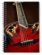 Acoustical Red Spiral Notebook