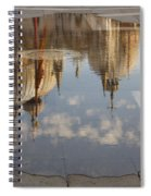 Acqua Alta Or High Water Reflects St Mark's Cathedral In Venice Spiral Notebook