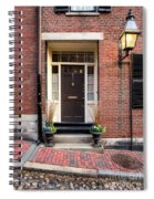 Acorn Street Door And Lamp Spiral Notebook