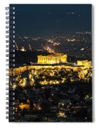 Acropolis At Night Spiral Notebook