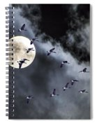 Across A Harvest Moon Spiral Notebook