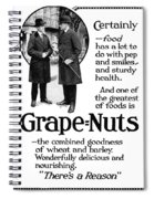 Ad Grape Nuts, 1919 Spiral Notebook