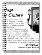 Ad Studebaker Carriages Spiral Notebook