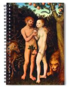 Adam And Eve - Oil On Canvas Spiral Notebook