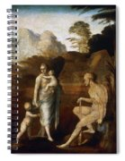 Adam And Eve With Cain And Abel Spiral Notebook