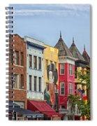 Adams Morgan Neighborhood In Washington D.c. Spiral Notebook
