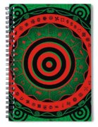 Adinkra Disk Pan-african II Spiral Notebook