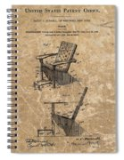 Adirondack Chair Patent Spiral Notebook