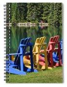 Adirondacks At Jasper Lodge Spiral Notebook