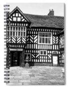 Adlington Hall Courtyard Bw Spiral Notebook