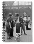 Admiring The Dog At Penn Station 1942 Spiral Notebook