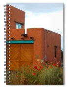 Adobe House And Poppies Spiral Notebook
