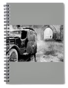 Adolf Hitler Shortly After His Release From Prison With A Mercedes 1924 - 2012 Spiral Notebook