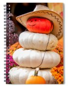 Adorable Cowboy Pumpkin Figures Made From Pumpkins Spiral Notebook