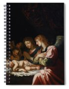 Adoration Of The Angels Spiral Notebook