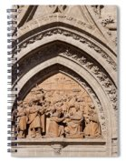 Adoration Of The Three Wise Men Relief Spiral Notebook
