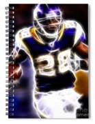 Adrian Peterson 01 - Football - Fantasy Spiral Notebook