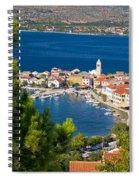 Adriatic Town Of Vinjerac Aerial View Spiral Notebook