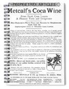 Advertisement: Coca Wine Spiral Notebook