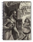 Advertisement For Cadburys Drinking Cocoa Spiral Notebook