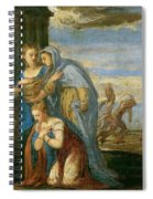 Aeneas Taking Leave Of Dido Spiral Notebook