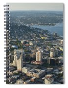 Aerial Image Of The Seattle Skyline  Spiral Notebook
